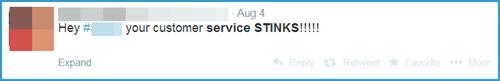 Customer Service Tweet