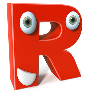 Letter R for Writing slip ups